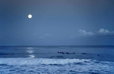 Under The Moon Wall Art - Photograph - Blue Moon by Sean Davey