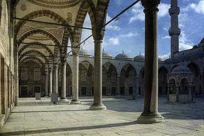 Islam Photograph - Blue Mosque Courtyard by Joan Carroll