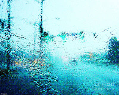Photograph - Blue Rain  by Lizi Beard-Ward