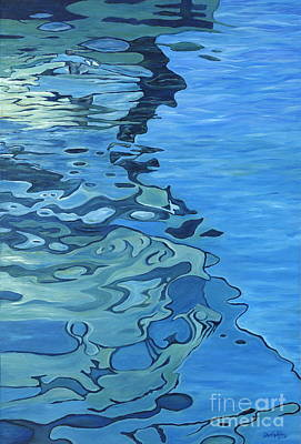 Blue Reflections Original by Danielle  Perry