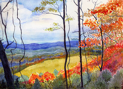 Blue Ridge Mountains Of West Virginia Art Print by Katherine Miller