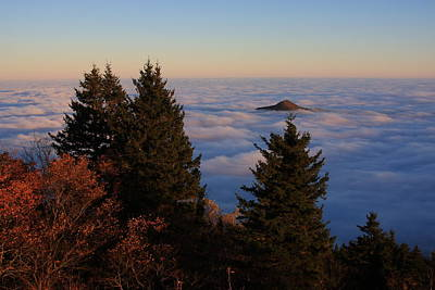 Blue Ridge Parkway Sea Of Clouds Art Print by Mountains to the Sea Photo