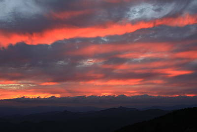 Art Print featuring the photograph Blue Ridge Parkway Sunset-north Carolina by Mountains to the Sea Photo
