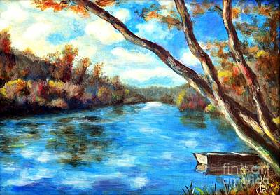 Painting - Blue River by Martin Capek