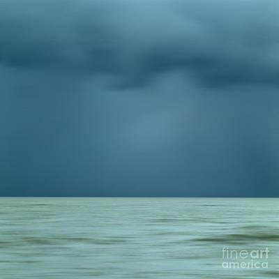 Horizon Over Sea Photograph - Blue Sea by Bernard Jaubert