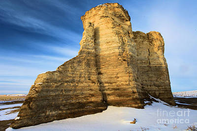 Photograph - Blue Skies At Monument Rocks by Adam Jewell