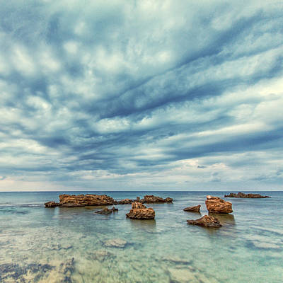 Abstract Beach Landscape Photograph - Blue by Stelios Kleanthous