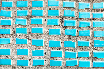 Royalty-Free and Rights-Managed Images - Blue tiles by Tom Gowanlock