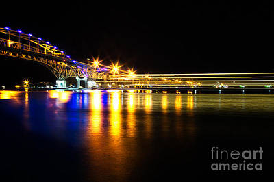 Port Huron Photograph - Blue Water Bridge by Todd Bielby