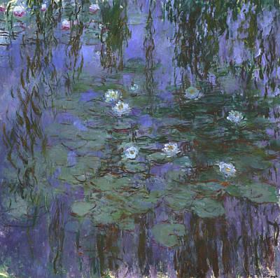 Blue Water Lilies Art Print by Claude Monet