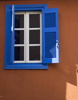 Photograph - Blue Window by Radoslav Nedelchev