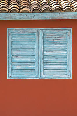 Photograph - Blue Window Shutter Of Aruba II by David Letts