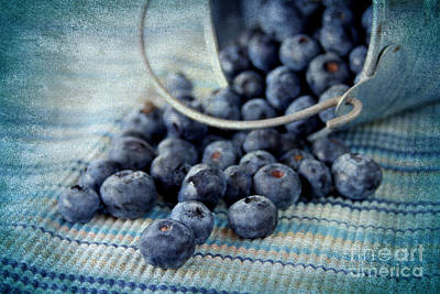 Kitchen Photograph - Blueberries by Darren Fisher