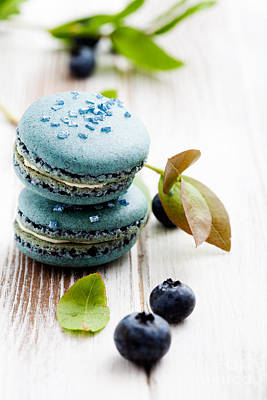 Photograph - Blueberry Macaroons by Kati Finell