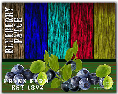 Blueberry Patch Art Print by Marvin Blaine
