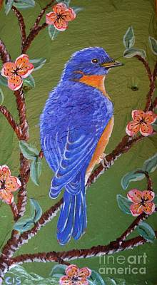 Painting - Bluebird by Cecilia Stevens