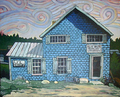 Nederland Painting - Bluehouse by Al Hart