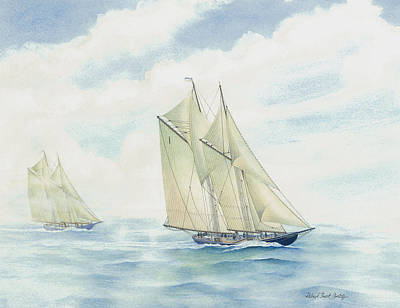 Bluenose Painting - #1 Bluenose by Robert Boast Cornish