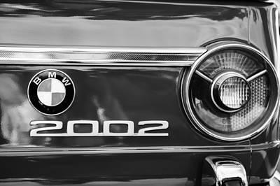 Bmw Vintage Cars Photograph - Bmw 2002 Taillight Emblem by Jill Reger