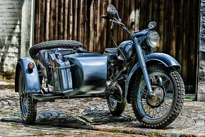 Sidecar Photograph - Bmw 500 Sidecar by Pixabay