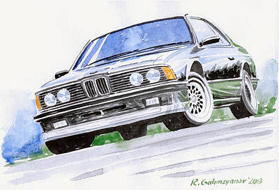 Bmw Painting - Bmw E23 by Rimzil Galimzyanov