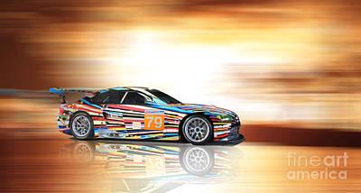 Bmw M3 Art Car Art Print