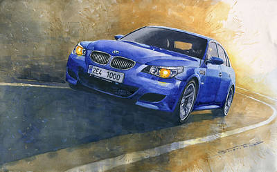 Paper Painting - Bmw M5 2006  by Yuriy Shevchuk