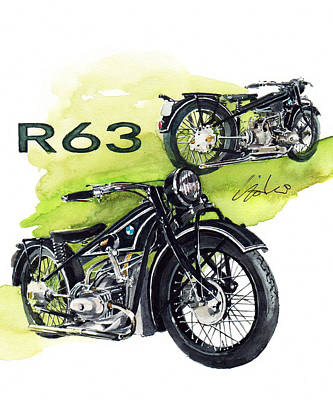 Cycles Painting - Bmw R63 by Yoshiharu Miyakawa