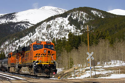 Steven Krull Photos - BNSF rolls through Rollins Pass Colorado by Steven Krull