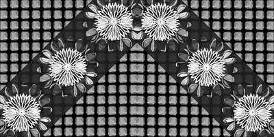 Painting - Bnw Black N White Sparkle Chakra Art Decorations Artist Created Images Textures Patterns Background  by Navin Joshi