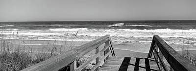Titusville Photograph - Boardwalk Leading Towards A Beach by Panoramic Images