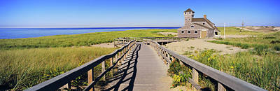 Savings Photograph - Boardwalk Leading Towards Old Harbor by Panoramic Images