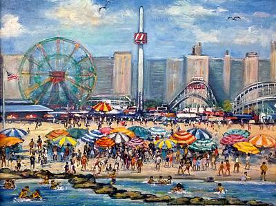 Painting - Boardwalk New Jersey by Philip Corley
