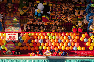 Photograph - Boardwalk With Games At Evergreen State Fair by Jim Corwin