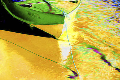 Boat Abstract Art Print by Avalon Fine Art Photography