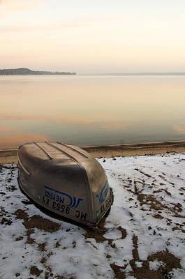 Photograph - Boat On Shore by Byron Jorjorian