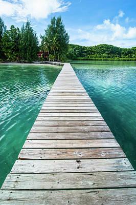Carp Photograph - Boat Pier On Carp Island, One by Michael Runkel