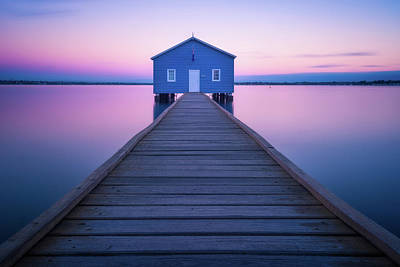 Pastel Sunset Photograph - Boathouse by Richard Vandewalle