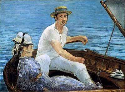Married Painting - Boating by Edouard Manet
