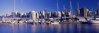 Boats At A Marina, Vancouver, British Art Print by Panoramic Images