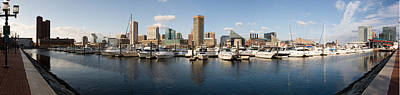 Maryland Photograph - Boats Moored At A Harbor, Inner Harbor by Panoramic Images
