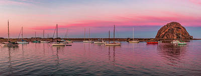 Morro Bay Photograph - Boats Moored At A Harbor, Morro Bay by Panoramic Images