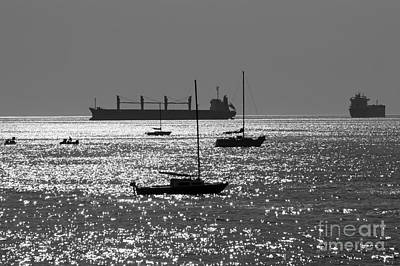 Photograph - Boats On English Bay Vancouver by John  Mitchell