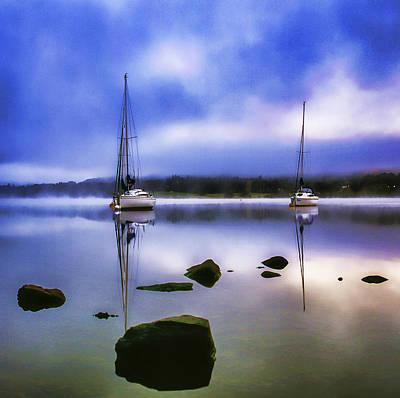 Boats On Ullswater Art Print