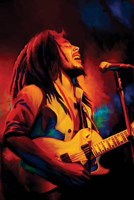 Singer Painting - Bob Marley Artwork by Sheraz A