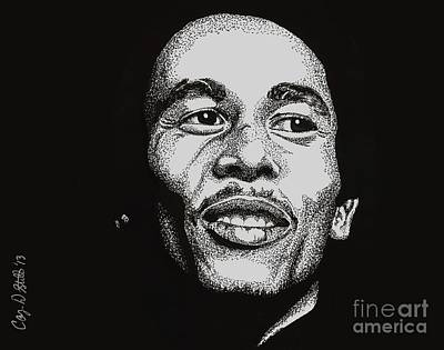 Drawing - Bob Marley  by Cory Still