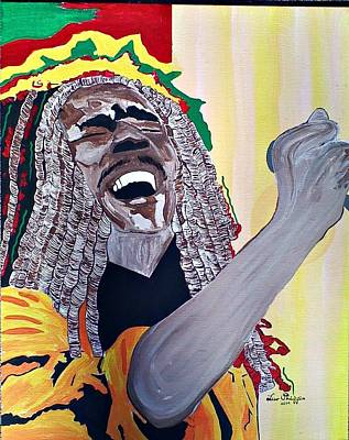 Painting - Bob Marley by Lew Griffin