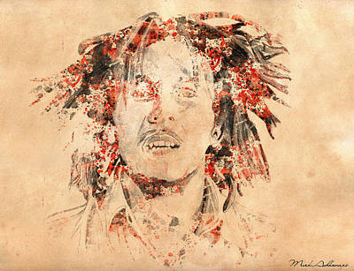 Rock Star Art Digital Art - Bob Marley by Mark Ashkenazi