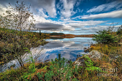 Lakes Digital Art - Bodgynydd Lake by Adrian Evans