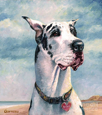 Dog Beach Painting - Bodhi  by Catherine Garneau